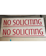 Handmade solid wood engraved wall decor sign no soliciting - $30.00