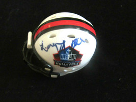 LARRY LITTLE SUPER BOWL CHAMPS DOLPHINS GUARD SIGNED AUTO MICRO MINI HEL... - $49.49