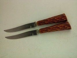 2 Vintage Bakelite Handled Washington Forge Carving Knives Stainless Steel - $15.19