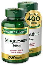 Nature's Bounty Magnesium by Nature's Bounty, 500mg Magnesium for Bone & Muscle  - $21.77