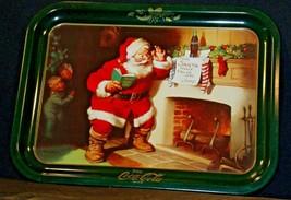 Coca-Cola Serving Tray Santa Visiting Jimmy AA-191914 Collectible