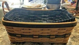 Longaberger Basket 1997 Collectors Club Edition Braided Leather Handles NEW - $56.42
