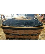 Longaberger Basket 1997 Collectors Club Edition Braided Leather Handles NEW - $68.99