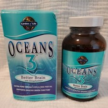 Garden of Life Oceans 3 Better Brain with OmegaXanthin 90 Softgels exp 12/21 - $43.84