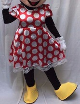 Minnie Mouse Adult Costume BODY Halloween Birthday Disney Red Dress Outf... - $59.39