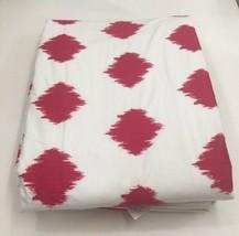 Restoration Hardware Embroidered Ikat Duvet Cover Twin Cotton Fuchsia NE... - $69.99