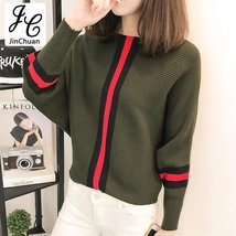 Batwing Long Sleeve Loose Knit Sweater - $24.11