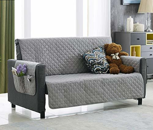 Light Grey Sofa Slipcover: Argstar Light Gray Oversized Couch Cover With Pockets