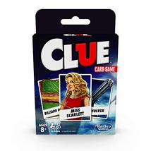 Hasbro Gaming Clue Card Game for Kids Ages 8 & Up, 3-4 Players Strategy ... - $6.98