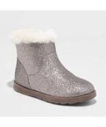 Girls' Hart Shearling Boots - Cat & Jack™ Gray 5 - $12.50
