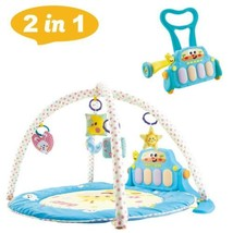2 In 1 Learning Walker & Baby Game Pad With Pedal Piano Music Fitness Rack - $91.63
