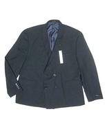 NEW BAR III NAVY TEXTURED DOUBLE BREASTED SLIM FIT BLAZER SUIT JACKET SI... - $73.60