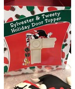 Sylvester And Tweety Holiday Door Topper Cat Holding String Of Presents ... - $50.25