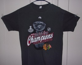 Alstyle Apparel Mens Medium 100% Cotton Chicago Blackhawks 2010 Stanley ... - $8.96