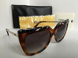 New FENDI FF 0087/S CUA9C 53mm Tortoise Women's Sunglasses Italy - $189.99