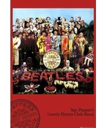 THE BEATLES ~ SGT PEPPER'S LONELY HEARTS CLUB BAND 24x36 MUSIC POSTER ... - $21.00