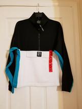 DKNY Womens' 1/2 Front Zip Pullover, Envelope Pocket, Multicolor, Sz.M(U... - $21.99