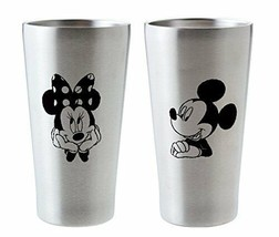 New Mickey & Minnie Stainless Steel Vacuum Insulated Pair Tumbler Limite... - $60.76