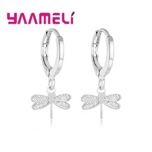 2020 New Trendy Solid 925 Sterling Silver Women Dangle Drop Earrings Pur... - $7.55
