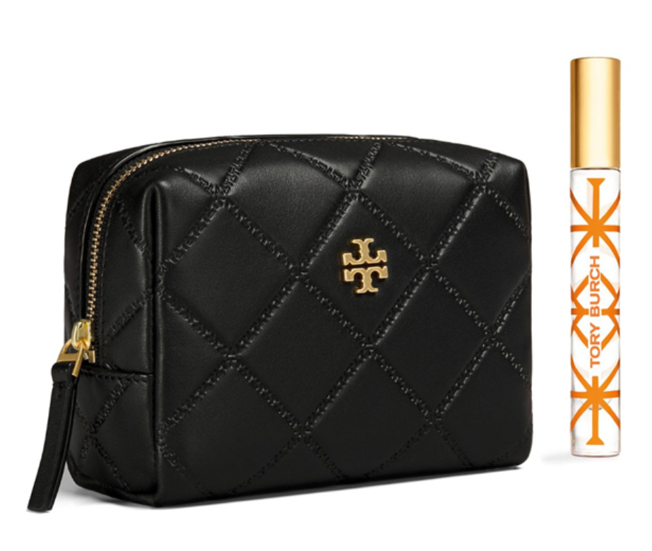 a2525838bbdb ... TORY BURCH Georgia Small Makeup Bag for Woman with Free Gift ...