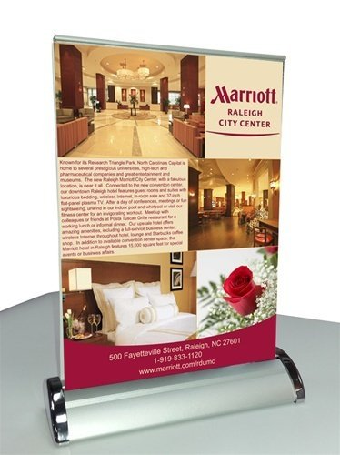 Tabletop Double Sided Mini Retractable Banner Stand