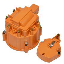 Distributor Cap w/ Rotor & Coil Cover Kit SBC BBC Chevy 65K Coil 8 CYL Orange image 3