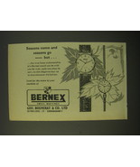1964 Bernex Watches Ad - Seasons come and seasons go - $14.99