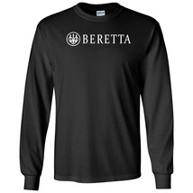 Beretta Script White Logo Long Sleeve Shirt 2nd Amendment Pro Gun Rights Rifle - $22.49+