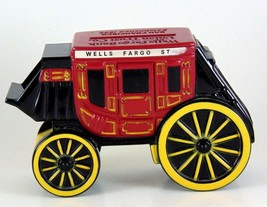 Wells Fargo & Company Stage Coach Penny Coin Bank Rubber 1998 collectibl... - $13.89