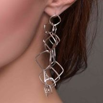 DROP EARRINGS SILVER 925 RHODIUM AND DIAMONDS BY MARY JANE IELPO MADE IN ITALY image 3