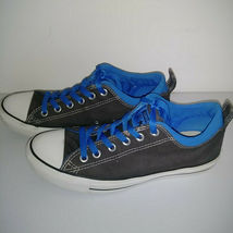 CONVERSE ALL STAR Gray Blue White Low Top Shoes Thick Tongue Mens 7 Womens 9 image 3