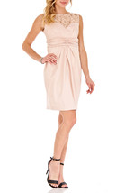 Sangria Doris Satin Sheath Sleeveless Above Knee Dress  Rose Blush Sz 2, 6 NWT - $20.10