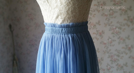 DUSTY BLUE Maxi Tulle Skirt Women Plus Size Tulle Skirts Blue Bridesmaid Skirts  image 10