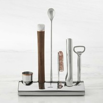 Williams Sonoma Bar Tool Set 7-Piece Set Accentuated with Copper Detailing - $128.69