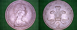 1975 Great Britain 2 New Pence World Coin - UK - $1.25