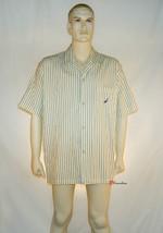 Nautica Men's Sleepwear Shirt Sunshine Yellow Stripes 100% Cotton XL $36 - $18.00