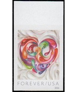 2016 49c Quilled Paper Heart, Imperforate Scott 5036a Mint F/VF NH - $1.99