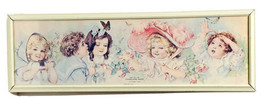Yankee Label Bread Butterfly Time Lithograph Ad Victorian Children Maud ... - $180.00