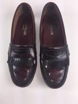 Cole Haan Loafer Mens 8.5 D Fringe Slip On Loafers Burgundy & Black USA ... - $25.70