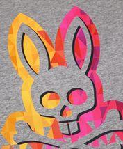 Men's Psycho Bunny Short Sleeve Graphic Tee Logo Shirt Heather Grey T-Shirt image 3
