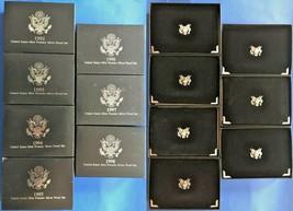 US Mint Premier Silver Proof Sets - Complete run 1992-1998  (OGP & Certi... - $249.00