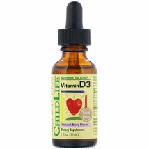 ChildLife, (3 Pack) Vitamin D3, Natural Berry Flavor, 1 fl oz (30 ml) - $14.99