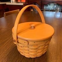 Longaberger Signed Woven Memories Basket Lid Protector '02 Combo - $28.98