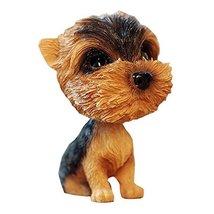 PANDA SUPERSTORE [Yorkshire Terrier] Bobbleheads Car Ornaments Resin Car Decorat