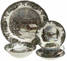 Johnson Brothers Friendly Village 5 PIECE PLACE SETTING NEW  - $59.39