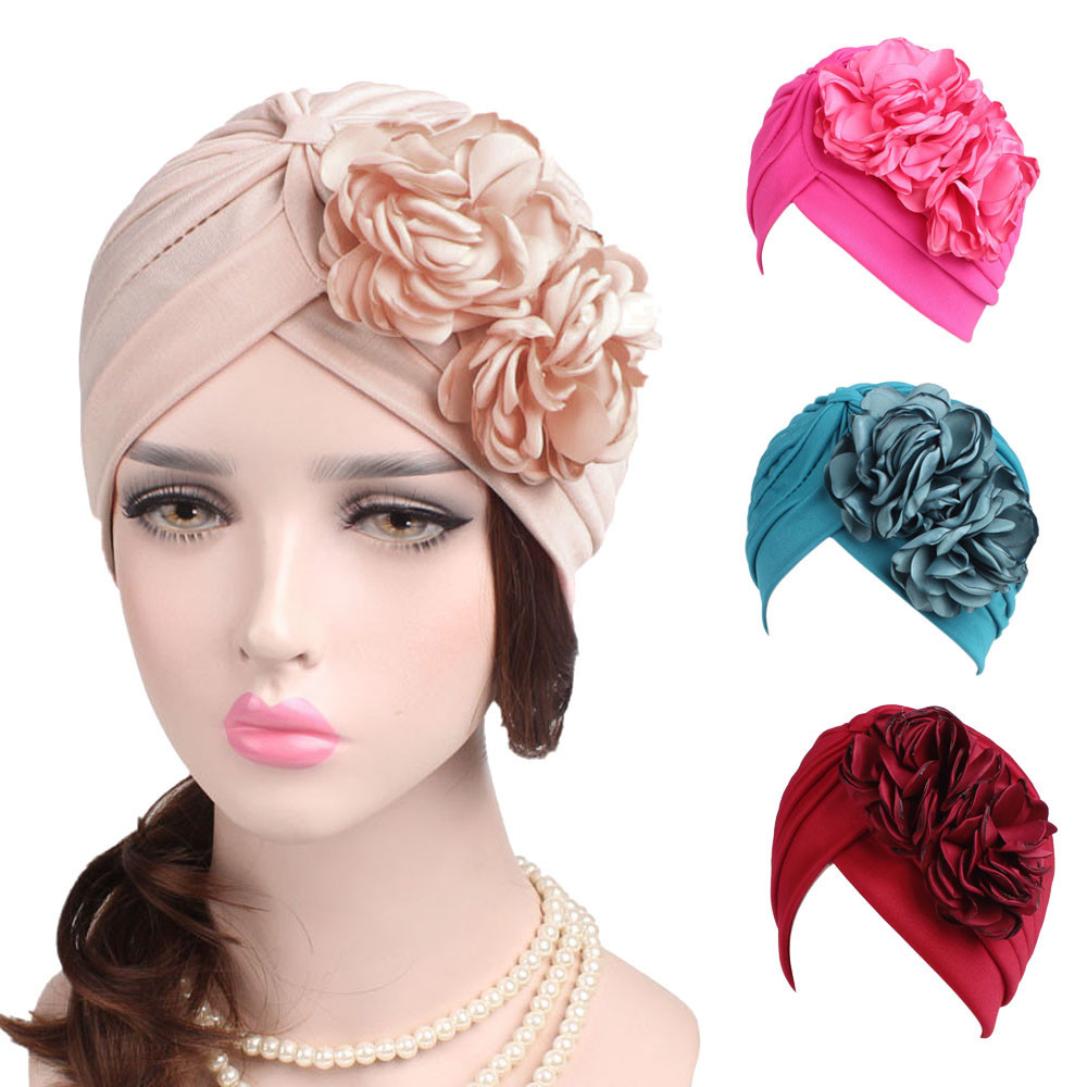 9a52a26852f Women ladies boho cancer hat beanie scarf turban head wrap cap hair cap  women s winter