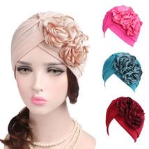 Women Ladies Boho Cancer Hat Beanie Scarf Turban Head Wrap Cap hair cap ... - $7.53
