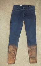 Gap 1969 Denim Legging Copper Bronze Metallic Jeans Size 25R 25 Regular - $18.51