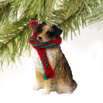 AUSTRALIAN SHEPHERD DOG CHRISTMAS ORNAMENT HOLIDAY XMAS Figurine Scarf P... - $9.50