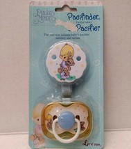 Vtg Precious Moments Pacifier Holder Baby Boy Teddy Bear Luv N Care Rebo... - $26.09